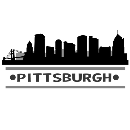 Pittsburgh Pennsylvania United States Of America USA Icon illustration.