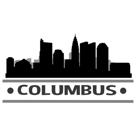 Columbus Ohio United States Of America USA Icon illustration.