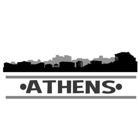 Athens Greece Europe Icon illustration. Illusztráció