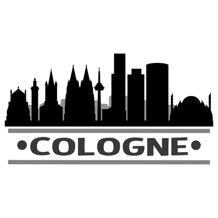 Cologne Germany Europe Icon Vector Art Design Skyline Flat City Silhouette Editable Template