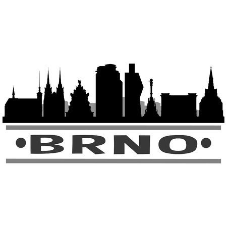 Brno, Czech Republic Icon Vector 일러스트