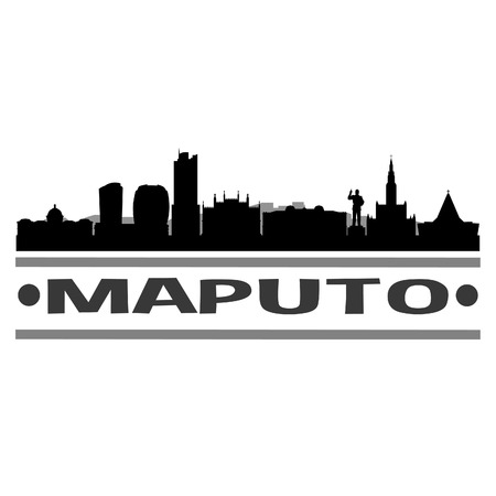 Maputo Mozambique Africa Icon Vector Art Design Skyline Flat City Silhouette Editable Template