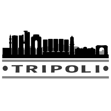 Tripoli Libya illustration.
