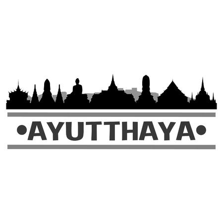 Ayutthaya Thailand Icon Vector Art