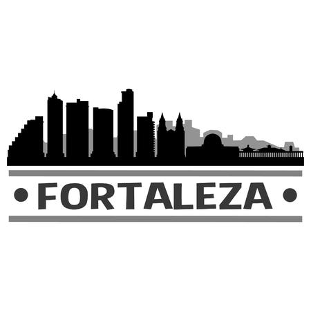 Fortaleza Brazil America Icon Vector Art Design Skyline Flat City Silhouette Editable Template