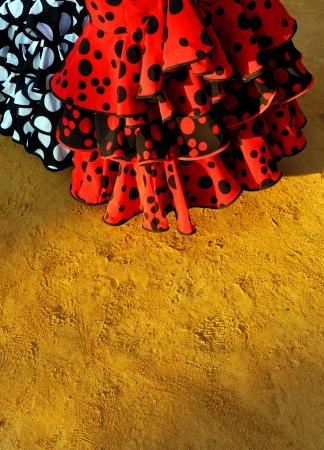 Feria de Sevilla, Flamenco-Kleider Standard-Bild - 20612889