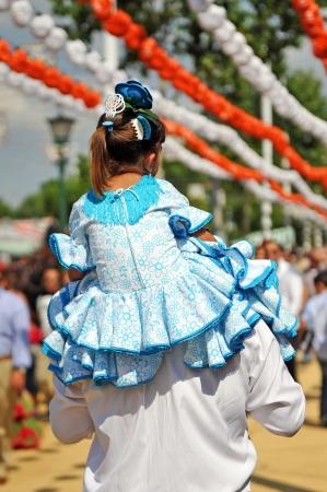 Feria de Séville, père avec sa fille Banque d'images - 20613133