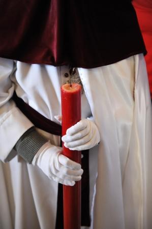 semana santa: Holy week in Baeza, Nazarene