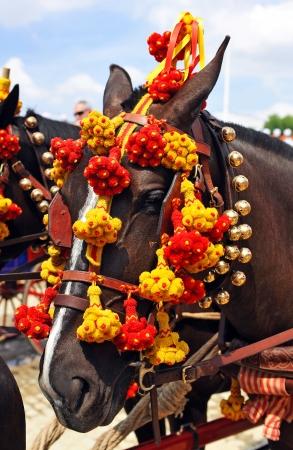 Feria de Sevilla, dekoriert Pferd Standard-Bild - 20624697