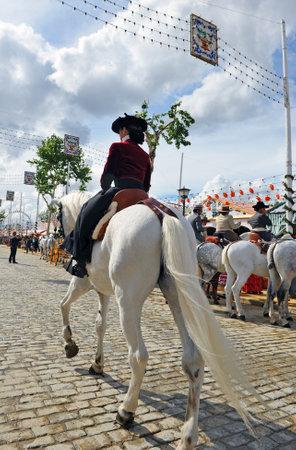 Feria de Sevilla, woman riding