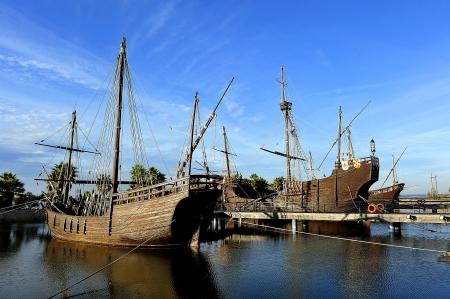 descubridor: Los tres barcos de Crist�bal Col�n, descubridor de Am�rica, La Rbida, Espa�a