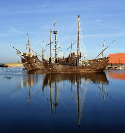 The three ships of Christopher Columbus, discovery of America, La Rábida, Spain photo