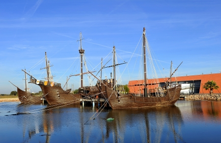 The three ships of Christopher Columbus, discovery of America