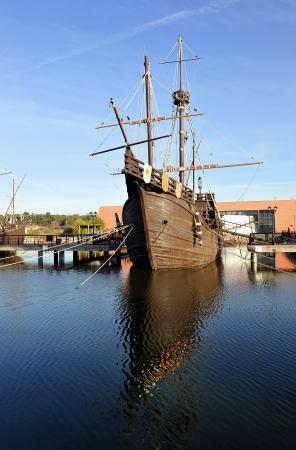 christopher columbus: The ship of Christopher Columbus, La Rabida, Spain