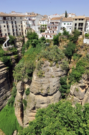 View of the town of Ronda in Malaga Province, Spain