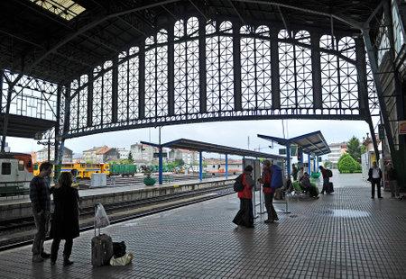 estacion de tren: Estaci�n de tren de Santiago de Compostela, A Coru�a, Espa�a