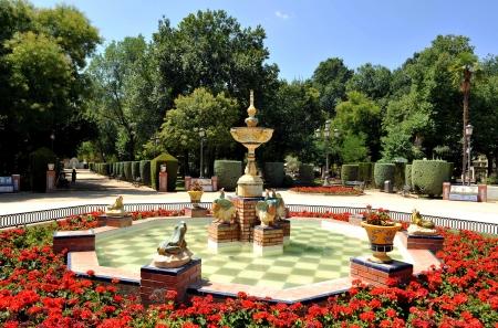 Ceramic source in the park Gasset, Ciudad Real, Spain Standard-Bild
