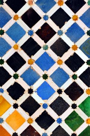 Alhambra palace in Granada, arabic decorative background, Spain photo