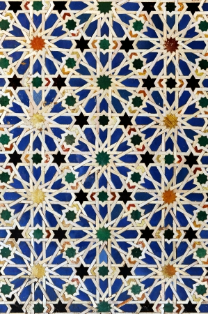 Alcazar palace in Sevilla, arabic decoration, Spain