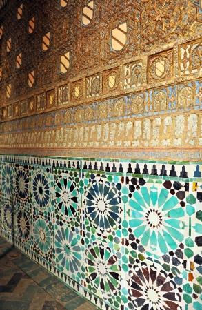mudejar: Mosaic tiles, Church of St Bartholomew, Cordoba, Spain Stock Photo