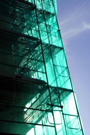 Immeuble en construction, échafaudages Banque d'images - 23535129