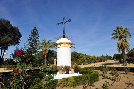 Cruz del Monasterio de Santa Mar�a de la R�bida, Huelva, Espa�a photo