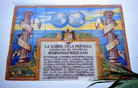 Azulejos del monasterio de La R�bida, el descubrimiento de Am�rica, Huelva, Espa�a photo