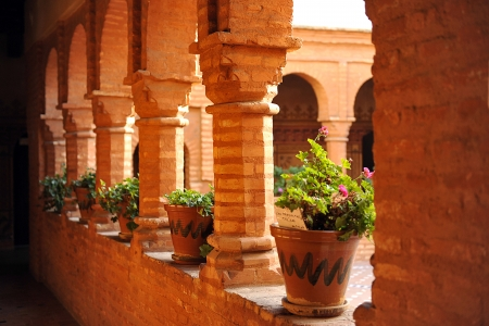 huelva: Cloister of the monastery of La Rabida, Huelva, Spain