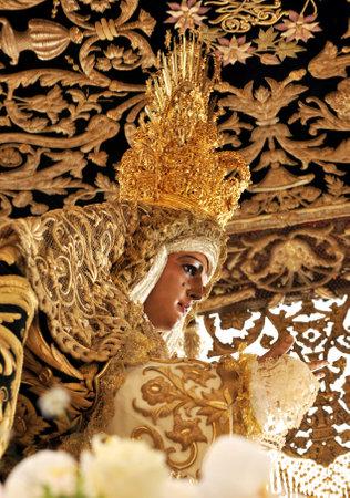 semana santa: Virgin of Esperanza de Triana, Holy Week in Seville, Spain