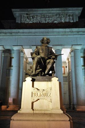 velazquez: Statue of the painter Velazquez in the Museo del Prado, Madrid, Spain Editorial