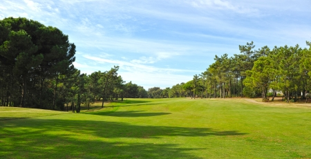 extensive: Extensive golf course on a sunny day, Andalucia, Spain Stock Photo