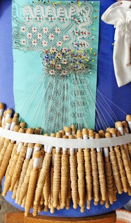 almagro: Textile crafts, tatting, Almagro, La Mancha, Spain Stock Photo