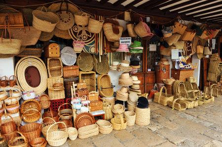 almagro: Handicraft shop, wicker items, Almagro, La Mancha, Spain
