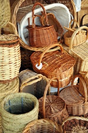 almagro: Wicker crafts, baskets, Almagro, La Mancha, Spain
