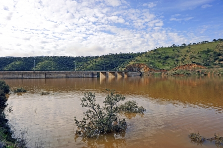 infrastructures: Reservoir Montoro, province of Ciudad Real, Castilla la Mancha, Spain