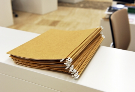 File folders, business, bureaucracy, administrative office photo