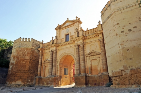 monumental: Cordoba Gate, monumental city,Carmona, Andalusia, Spain