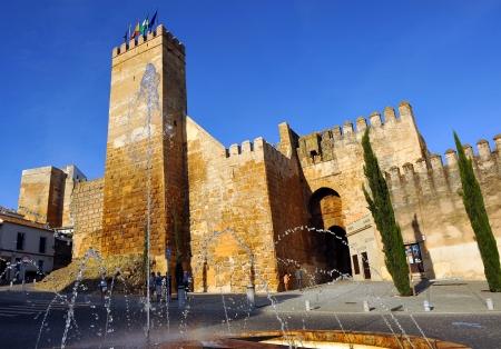 Alcazar de la Puerta de Sevilla, monumentale ville de Carmona, la province de Séville, Andalousie, Espagne Banque d'images - 24352501