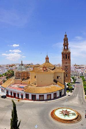 edificación: Vista panor�mica de la monumental ciudad de Carmona, provincia de Sevilla, Andaluc�a, Espa�a