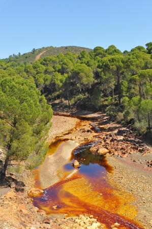 Acidic waters, landscape Rio Tinto, Huelva province, Spain photo