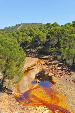 Les eaux acides, paysage Rio Tinto, la province de Huelva, Espagne Banque d'images - 25230662