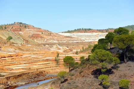 Mining landscape, Rio Tinto Mines, Huelva province, Spain