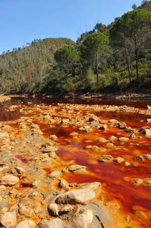 Acidic waters, landscape Rio Tinto, Huelva province, Spain