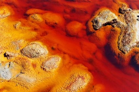 Polluted waters, Rio Tinto Mines, Huelva province, Spain photo