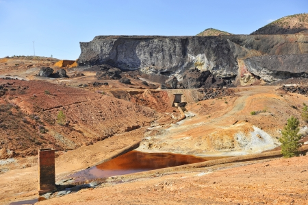 Mining landscape, Rio Tinto Mines, Huelva province, Spain photo