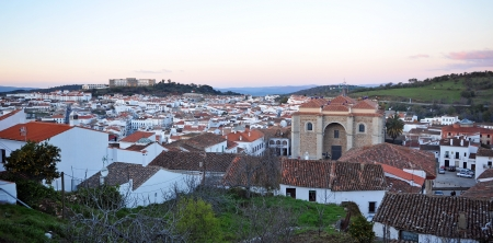 excursions: Panoramic view, village of Aracena, Huelva Province, Andalusia, Spain