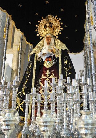 Virgen de la Amargura, Holy Week in Baeza, Province of Jaen, Andalucia, Spain