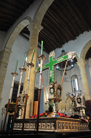 jesuschrist: Paso de la Santa Cruz, Holy Week in Baeza, Province of Jaen, Andalucia, Spain Editorial