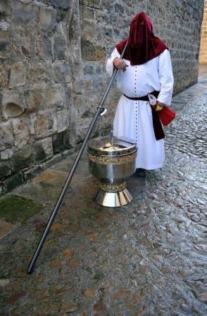 santa cena: Semana Santa de Baeza, el gran incensario calles, Provincia de Ja�n, Andaluc�a, Espa�a