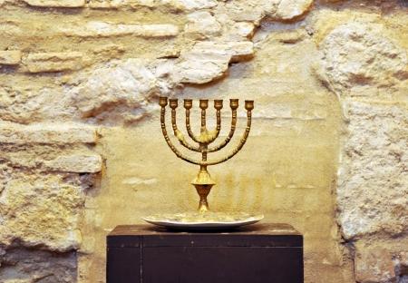 jewry: Menorah, synagogue, Jewish Quarter of Cordoba, Andalusia, Spain
